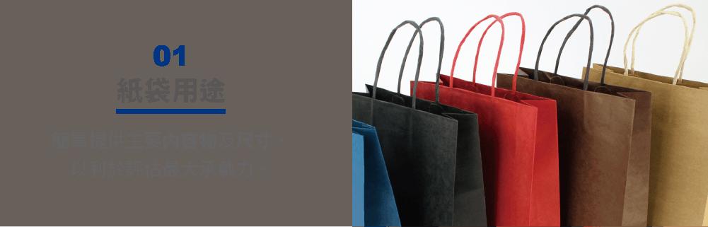 紙袋內容物的重量會影響紙張厚度的選折