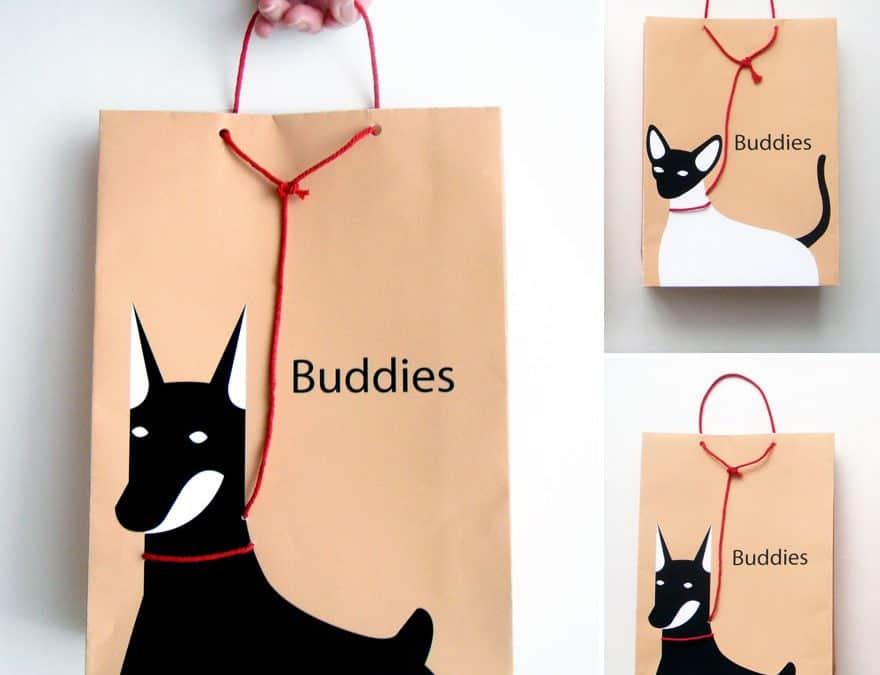 皮帶購物袋上的寵物