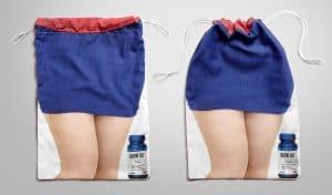 纖細的腰包裙子美腿提袋設計