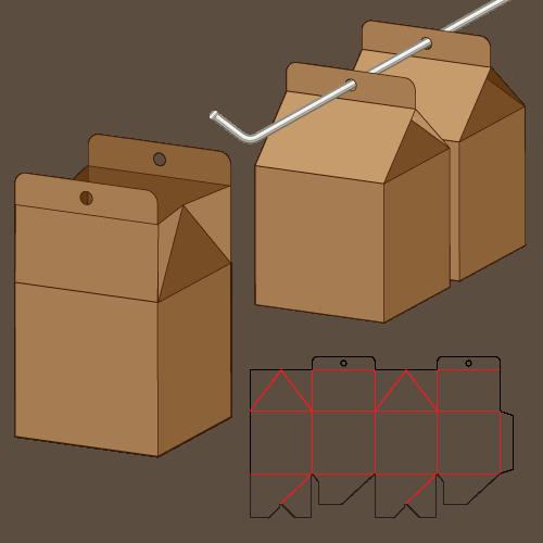 糊底提盒盒型