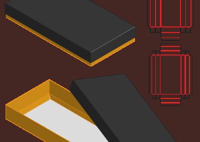 天地上下蓋折盒盒型