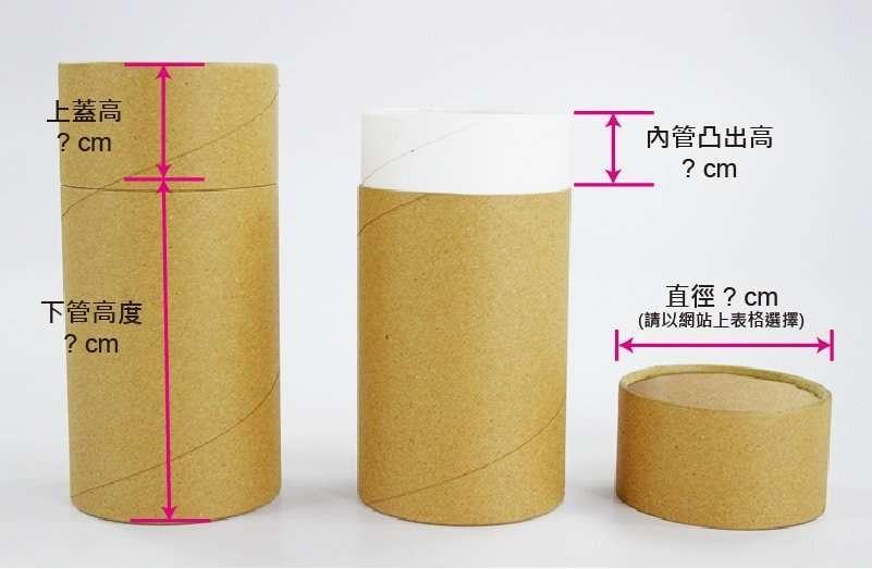 雙套R-紙管報價需要-上蓋高度x下蓋高度x內捲露出高度,才有辦法精確的估價