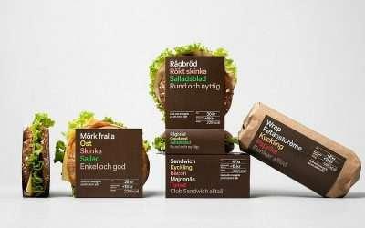 5個令人印象深刻的三明治包裝設計
