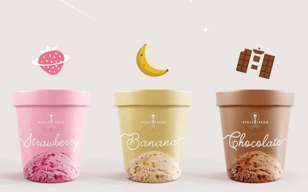 看起來美味可口的冰淇淋包裝